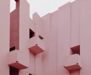 pastel, building, and pink image