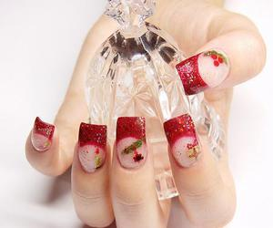 french nails in red image