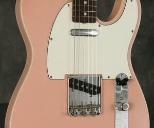 electric guitar, peach, and Telecaster image