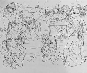 danganronpa, kyouko kirigiri, and touko fukawa image