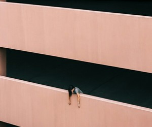 architecture, peach, and photography image