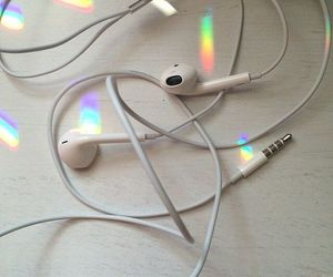 rainbow, music, and white image