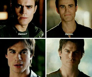 tvd, the vampire diaries, and brothers image
