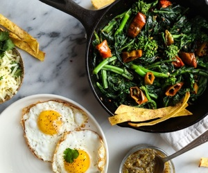 breakfast, eggs, and healthy image