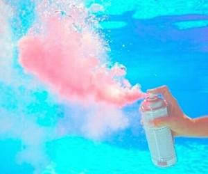 pink, water, and pool image