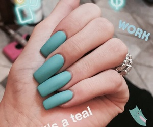 nails, blue, and kylie jenner image