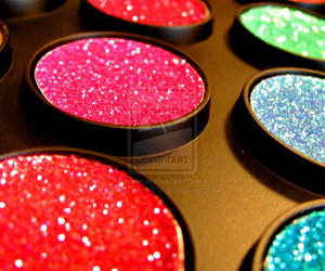 glitter, makeup, and colors image