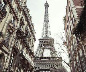 city, eiffel tower, and paris image