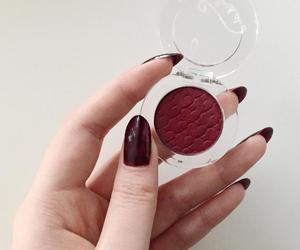 burgundy, eyeshadow, and makeup image