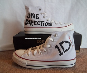 one direction, converse, and shoes image