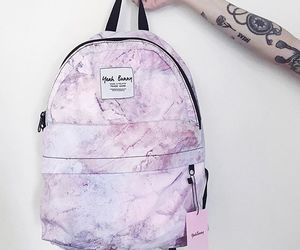 backpack, marble, and pastel image