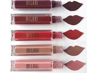 lipstick, liquid lipstick, and love image