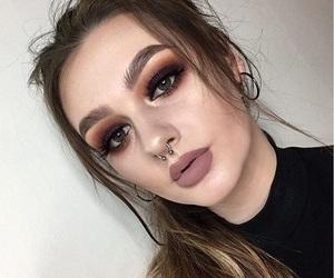 brown, makeup, and brown smokey eye image