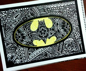 batman, mandala, and arte image