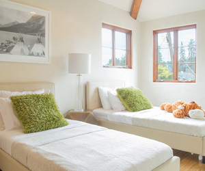 bed, california, and decor image