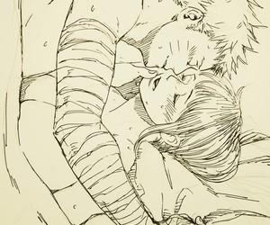 anime, drawing, and hinata image