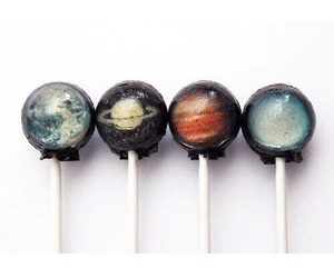 lollipop, planet, and galaxy image
