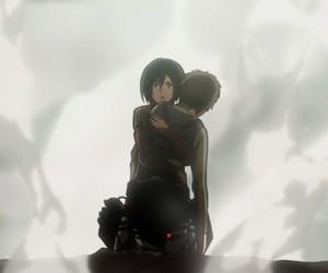 mikasa, attack on titan, and eren and mikasa image