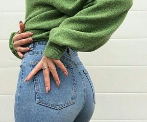 fashion, jeans, and green image