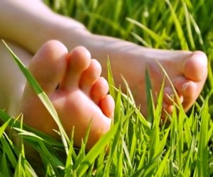 bare feet, spring, and grass image