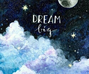 Dream, moon, and stars image