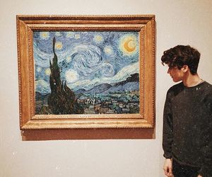 boy, art, and van gogh image