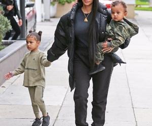 kim kardashian, north west, and saint west image