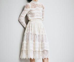 dress, frilly, and lace image