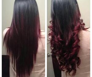 beautiful hair, color hair, and dark brown hair image