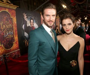 dan stevens, emma watson, and beauty and the beast image