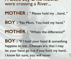 boy, quote, and mother image