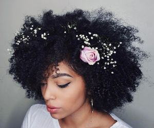 hair accessories, natural hair, and kinky curly hair image