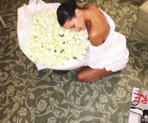 bella hadid, model, and roses image
