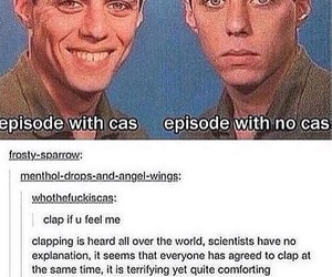 clapping, dean winchester, and funny image