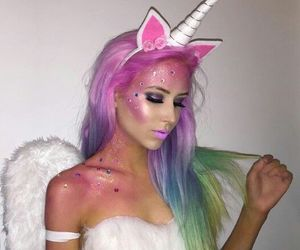 unicorn, Halloween, and makeup image
