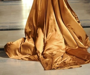 gold, dress, and fashion image