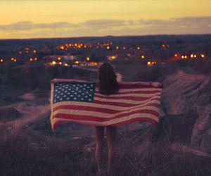 city, flag, and girl image