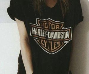black, harley, and motorcycle image