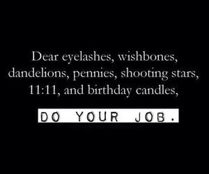 wish, eyelashes, and quote image