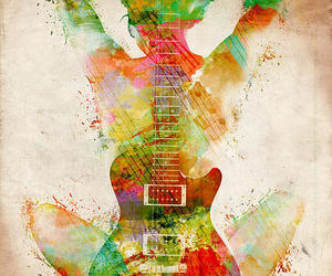 color, guitarra, and she image