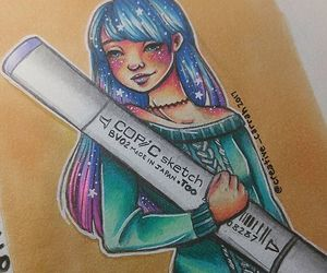 art, drawing, and marker image