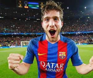 fc barcelona and sergi roberto image