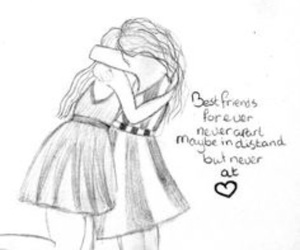 best friends, draw, and friends image