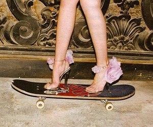heels, skateboard, and skate image