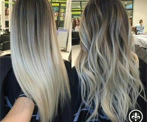 blonde, ombre, and hair image