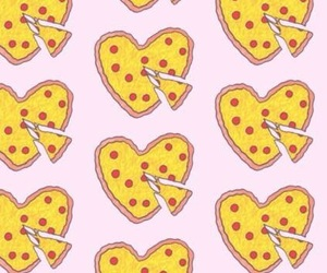 food, heart, and pattern image