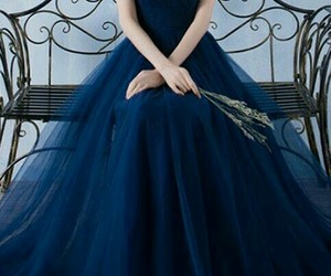 dress, blue, and prom dress image