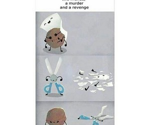 funny, story, and rock-paper-scissors image