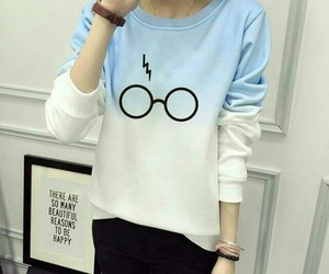 glasses, harry potter, and hogwarts image