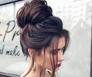 brown hair, dark hair, and fashion image